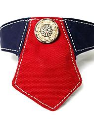 el modelo del teñido del algodón del collar bandana cuero genuino para mascotas perros