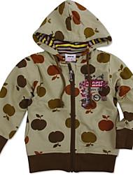 hoodies das crianças jaquetas hoodies globais bebê inverno camisolas maçã impresso menino jaqueta de impressão aleatória