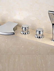 Bathtub Faucet - Contemporary - Waterfall - Brass (Chrome)