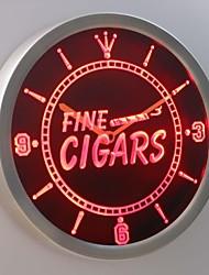 nc0330 cigares fins néon conduit horloge murale