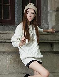 solide chandail de couleur farceur col roulé col chandail des femmes