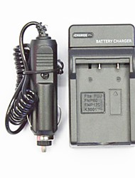 Camera Battery Charger with a Car Charger for Fuji  FNP60/160/K5001 (100V-240V)