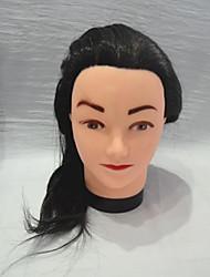 longo cabeleireiro reta cabeça manequim feminino