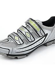 zapatillas de ciclismo de montaña-TB15 B1230 con suela de fibra de vidrio y cuero pvc superior (astilla + negro)