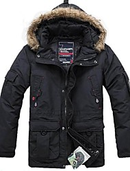 Men's Casual Waterproof Detachable Internal Winter Duck Long Down Jacket