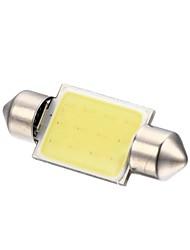 Merdia Festoon 2W COB 6000K 110LM 36MM 12SMD LED Cool White Light for Car License Plate Light / Reading Lamp - (2 PCS)