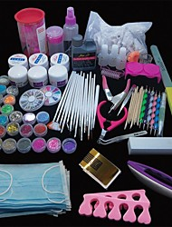 167PCS Pro Nail Art Acrylic Powder UV Gel Tip Brush Clipper Tool Set