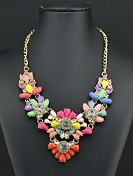 Women's Multi Color Gem Diamonade Necklace
