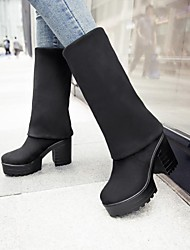 Women's Shoes Round Toe Chunky Heel Over Knee-high Boots More Colors Available