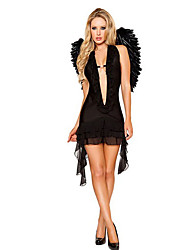 Performance Women's White/Black Angle Costume Dress-Including Dress And Wing(More Colors)