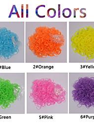600pcs arco-íris de cores translúcidas tear tear de forma colorida banda (clipe 1package s, cores sortidas))