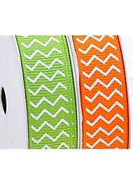3/8 polegadas saco de fita-5 halloween linhas onduladas série costela de impressão em fita de yardeach