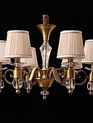 Modern 6 Lights  Metal plating Bronze Minimalist Style Chandelier