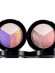 3Color Silk Soft Gorgeous Color Bake Eyeshadow