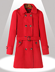 Women's Coats & Jackets , Tweed Long Sleeve Yinbo Winter