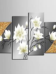 art de toile tendue belles fleurs d'ensemble décoratif de quatre