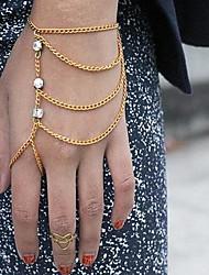 Legering Dames Chain/Gepersonaliseerde Armbanden Bergkristal