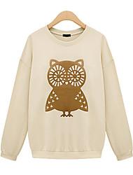 Women's Tops & Blouses , Cotton Blend Casual YIBEIER