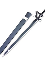 Sword Art Online Kirigaya Kazuto Black Sword Elucidator Wood Anime Cosplay Sword with Sheath