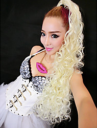 Sexy Lady Pony-tail Style Light Golden Long 65cm Women's Halloween Party Wig