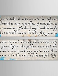 Hand Painted Oil Painting Abstract Words Canvas Painting with Stretched Frame Set of 2
