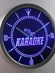 nc0272 Karaoke Room Display Neon Sign LED Wall Clock