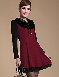 Women's Casual / Work Dress Above Knee Polyester
