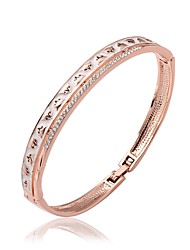 Jinfu Elegant Gold Plating Rose Gold Bangle Bracelet