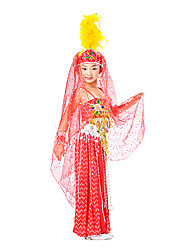Performance Kids' Dancewear Sequind/Tulle Belly Dance Outfit Including Accessories(More Colors)