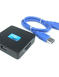 de forme carrée tout-en-1 lecteur de carte SuperSpeed USB 3.0 prend en charge la mémoire sd / tf / cf / m2 / ms / xd