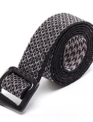 Rockway® Outdoors Unisex Carbon Fiber Buckle Nylon Black Low Profile Belt