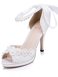 Women's Wedding Shoes Peep Toe/Platform Heels Wedding/Party & Evening Ivory/White