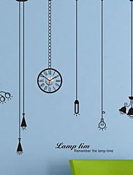 pegatinas de pared de tatuajes de pared, lámparas de techo modernas lámpara de pared pegatinas reloj de pared de pvc