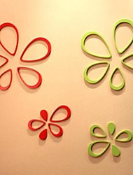 Fashion Wooden Drops of Water 3D Wall Stickers(Assorted Colors)(5 Pcs)