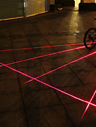 UNGROL 5 Red Straight Lines 1 Laser Module 6 LED 6 Flash Mode Black Bike Warning Laser Light