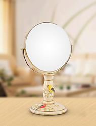 """haoxinyi® 14 """"h Les oiseaux heureux moderne maquillage miroir de polyrésine style de jardin deux côtés"""