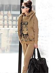 ZhuLanChaoWomen's Thick Leisure Suit(Hoodie & Pants & Vest)