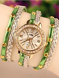 Мак женская элегантная все имитация матч жемчужный браслет часы
