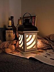 Table Lamps White Warm White Light Crystal Salt Iron Art Wood European Retro Classic 220V