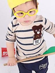Boy'S Bear Striped Long-Sleeved Suit