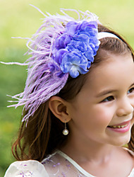 Flower Girl's Feather Headpiece-Wedding Special Occasion Flowers