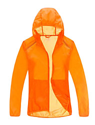 Outdoor 100% Nylon Unisex transparente e fina Windbreaker
