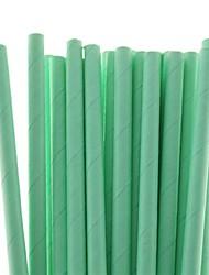 25 шт продукты питания безопасными сплошной цвет соломинки бумага питьевой