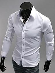manlodi Männer einfarbig körpernah geschnittene Shirt