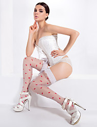 White Heart-shaped Hosiery
