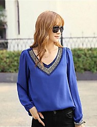 Women's Bead V Neck Collar Blouse (More Colors)