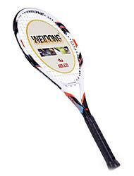 de fibra de carbono blanco naranja weidong&Al-ti raqueta de tenis de aleación