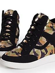 pattini delle donne rotonde del cuneo della punta scarpe da ginnastica di moda tallone tela con le scarpe di paillettes più colori disponibili