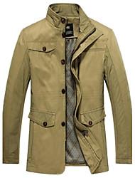pura casaco cor trincheira dos homens