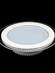 18w máscara de cristal redonda del panel del LED SMD 5730 de mini lámpara de la cocina llevó las luces del techo ac85-265v
